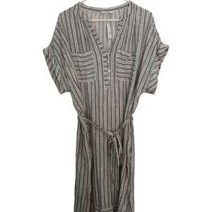 Gap SS Pocket Shirt Dress Black Stripe Tunic